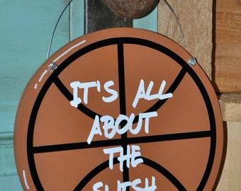 Wood and Paint Basketball Door Hanger & Basketball door | Etsy Pezcame.Com