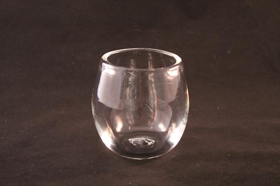 Hand blown clear glass stemless wine glass - Hand blown stemless wine glasses ...