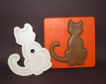 Sitting/Seated Kitty Cat Cookie Cutter