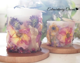Romantic Seasonal Flower Candle