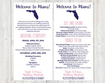Welcome letter weekend itinerary wedding itinerary gold welcome letter wedding itinerary hotel welcome letter florida wedding welcome bag pronofoot35fo Gallery