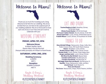 Welcome Letter, Wedding Itinerary, Hotel Welcome Letter, Florida Wedding, Welcome Bag, Destination Wedding Welcome Letter, DIY Printable