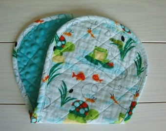 Quilted Baby Burp Pad, Baby Shower Gift, Burp Cloth, Baby Shower Gift Boy, Baby Shower Gift Girl, Baby Shower Gender Neutral, Minky, Flannel