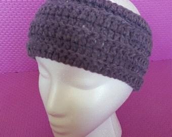 Purple crocheted Headband