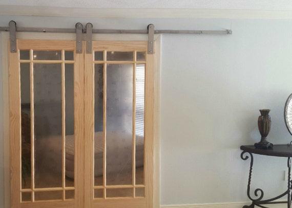 Double Sliding Barn Door Hardware Modern Style By