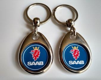 SAAB KEYCHAIN 2 PACK