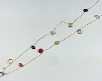 Gems necklace - Long gems necklace