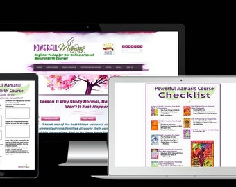 Powerful Mamas ONLINE Natural Childbirth Course
