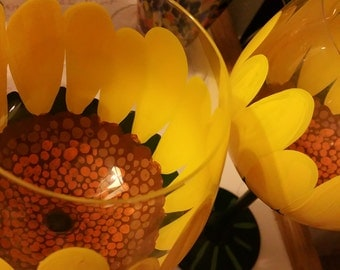 Sunflower wine glasses (set of 2)