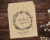 Seed Packets, Seed Wedding Favor, Seed Envelope, Flower Seed Packet, Rustic Wedding, Let Love Grow Favor, Eco Friendly Wedding Favor  x 25