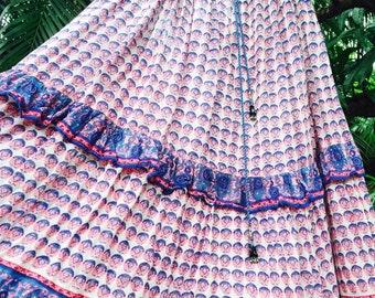 Vintage gauze Indian skirt