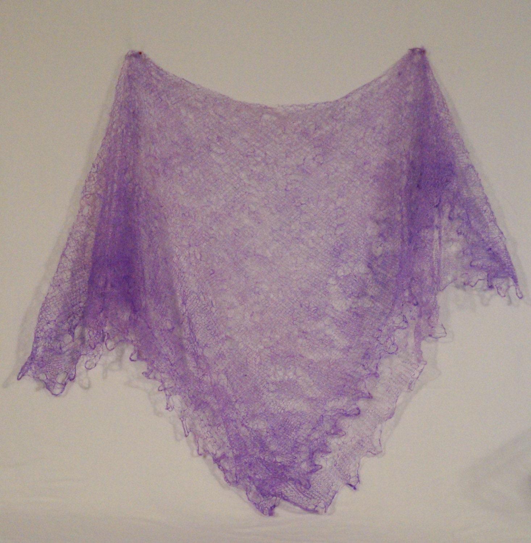 Knitting Shawl Russian : Russian orenburg lace knitted shawl light lilac