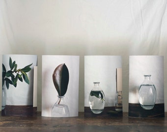 Set of 4 Fine art photography prints minimalistic style nature inspired limited edition