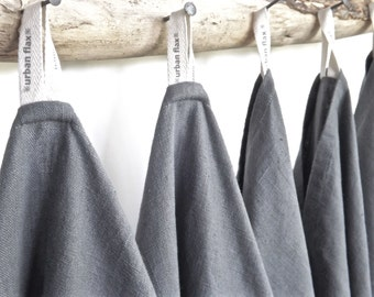 Grey Linen Dish Towels (6), Grey organic towels, Grey Linen Kitchen Towels, Grey Hand Towels, Grey linen  towels