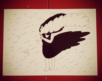 Postcard - storm / / Postcard - Wind