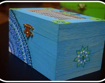 Attractive Colors - Jewelry Box -Keepsake Box-Memory Box-Indian Art