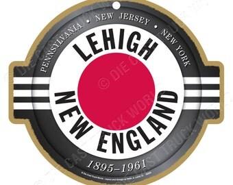 Lehigh & New England Railroad Logo Wood Plaque / Sign
