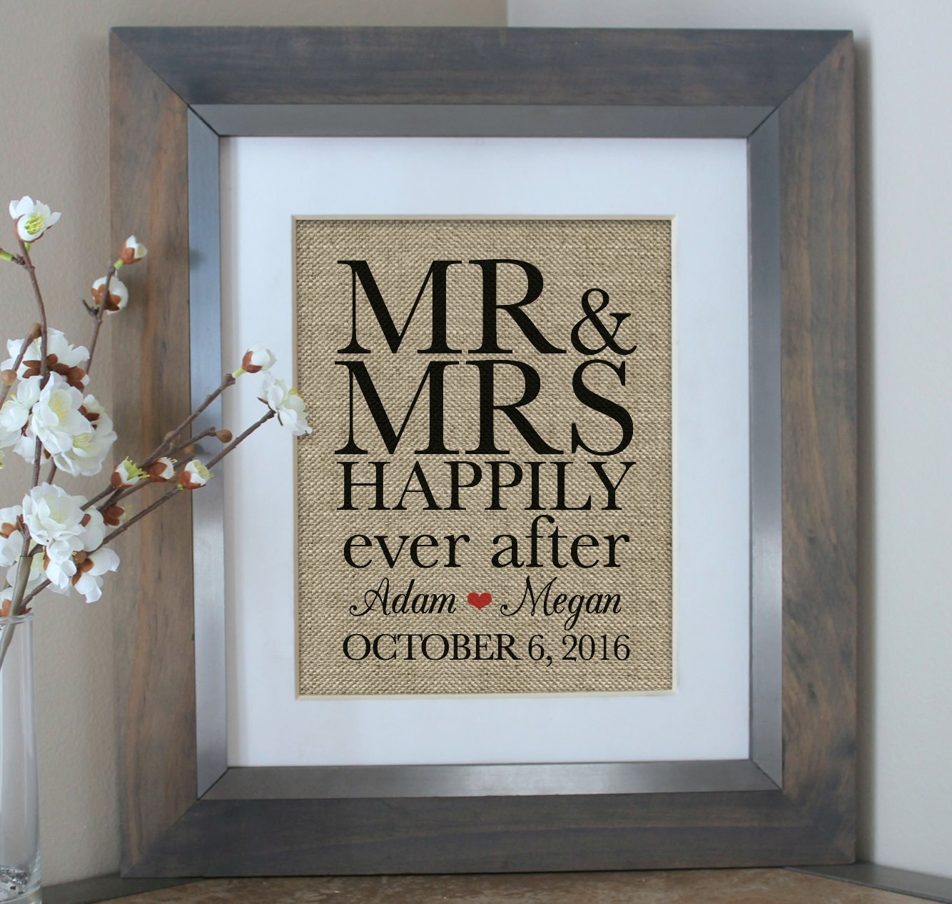 Wedding Gifts Mr And Mrs: MR MRS Wedding Gift Engagement Gift Bridal By EmmaAndTheBean