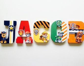 Paw Patrol Letters - Home Decor - Party Decorations - Wood letters - Custom Letters