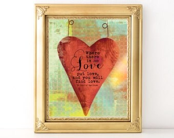 Find Love Print / Every Day Spirit / Inspirational Quote / Wall Art Illustration / Love Quote / Encouraging Quote / Various Sizes