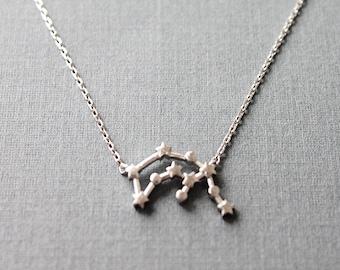 Aquarius Constellation Necklace  Aquarius Necklace  Zodiac necklace Constellation Jewelry