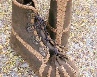 FREE SHIPPING-Handmade Leather Boots