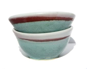 Crimson Teal Cereal Bowls