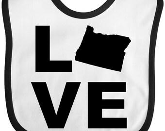 Love Oregon Baby Bib by Inktastic