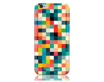 Moto E (1st gen) Case SS Pixel Cubes Cool Design Hard Phone Case
