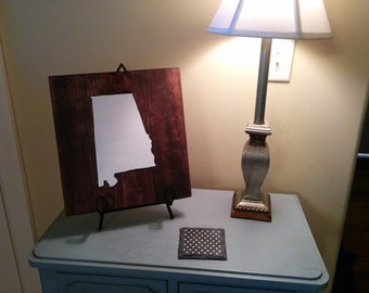 State Sign, Alabama Heart of Dixie, Home Decor