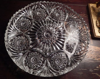CUT GLASS PLATTER