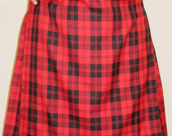 Menzies Red Tartan Plaid Kilt Men's Kilt~Red Black Plaid Kilts~Plus Size Kilts~Highland Games Black Red Tartan Custom make kilts @sohoskirts