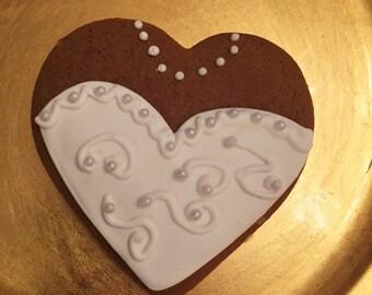 Bridal Heart Shaped Cookies