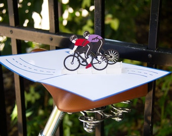 Cyclists Pop Up Card, Bicycles Pop Up Card, Bike Race Pop Up Card, Cycling Card, Outdoors Card, Biking, Lovepop