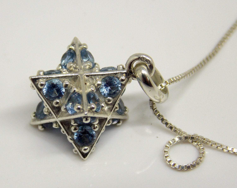 merkaba sacred geometry kabbalah jewelry by argamandesigns