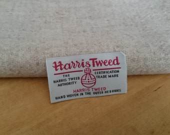 Harris Tweed Cloth Fabric Oatmeal Luxury Handwoven 100% Pure Virgin Wool handwoven in Outer Hebrides Scotland