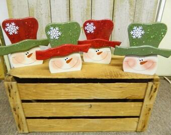 Snowmen Head Shelf Sitters