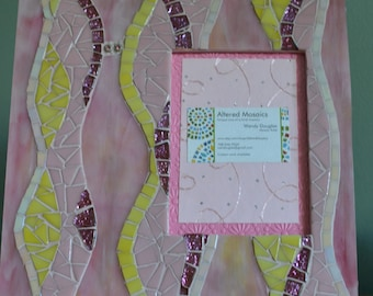 Pretty in Pink mosaic picture frame