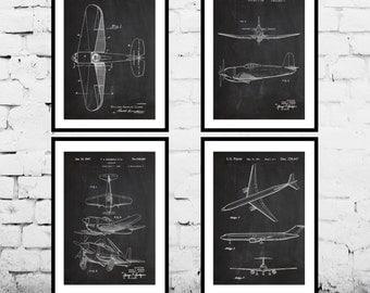 Airplane blueprint etsy airplane patent aircraft poster airplane art aviation decor airplane wall art malvernweather Gallery
