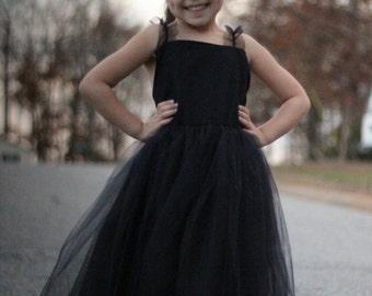 Black flower girl dress, Flower girl dress