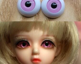 Hand Made BJD Doll Eyes Light Purple Acrylic Half Ball 8mm 10mm 12mm 14mm 16mm 18mm 20mm 22mm 24mm 26mm