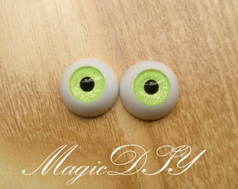 Hand Made BJD Doll Eyes Green Sand Acrylic Half Ball 8mm 10mm 12mm 14mm 16mm 18mm 20mm 22mm 24mm 26mm