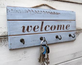 ON SALE!!!Welcome key holder,welcome sign, housewarming gift,key rack