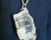 SELENITE Meditation Crystal - Sacred Necklace for Healing, Chakra Balance and Dream Recall