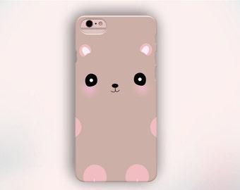 Brown Bear iPhone Case, Animal iPhone Case, Cute iPhone Case, Kawaii Case, iPhone Case, iPhone 6s case, iPhone 5s case, iPhone 4 case