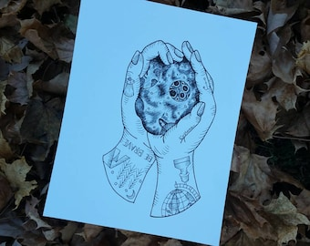 The Whole World in my Hands Print on Cardstock