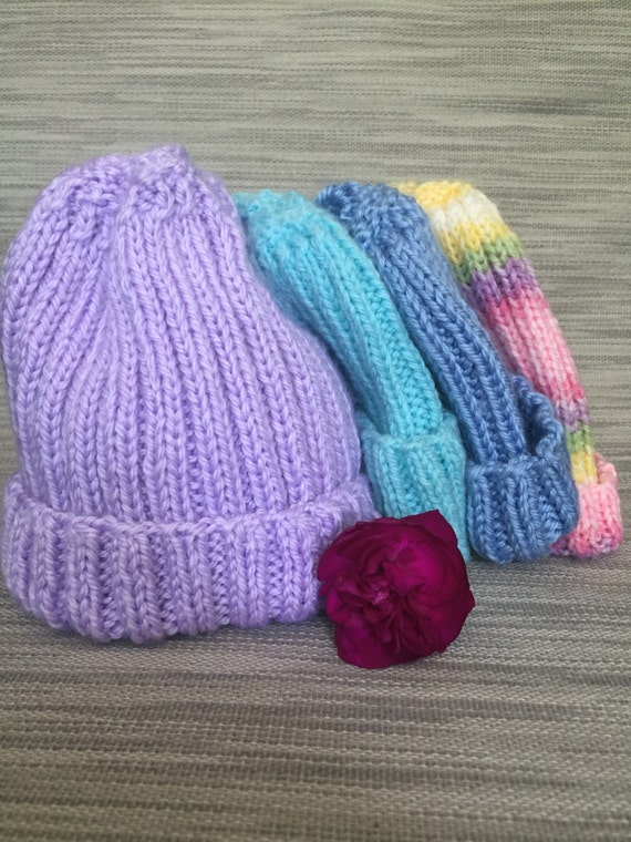 Warm Hand knit 12 - 18 month Baby Hat