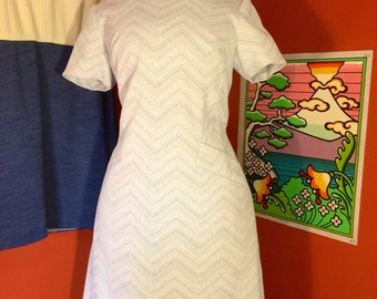 1960's Grey Polyester Dress