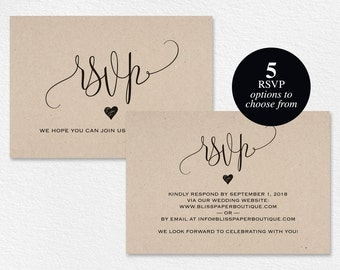 RSVP Postcard, RSVP template, wedding rsvp cards, wedding rsvp postcards, rsvp cards, rsvp online, PDF Instant Download #BPB203_1_1