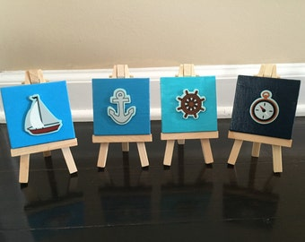 Mini canvases Nautical themed